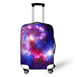 Colorful Galaxy Pattern Waterproof Washable Red Blue 3D Printed Luggage Cover