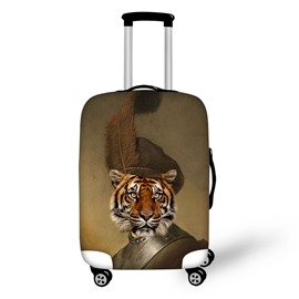 Fit 18-30 Tiger's Head Soldier Caps Inch 3D Printed Suitcase Luggage Protector Covers