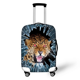 Ice Leopard Face 3D Animals Travel Luggage Protective Suitcase Cover