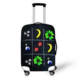 Banana Ladybug Dice Clover Billiards Pattern Washable Spandex 3D Luggage Cover