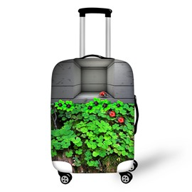 Clovers and Ladybug Design Spandex 3D Covers for Travel Suitcase