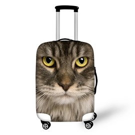 Cat Face Personality Spandex 3D Animals Travel Luggage Protective Suitcase Cover
