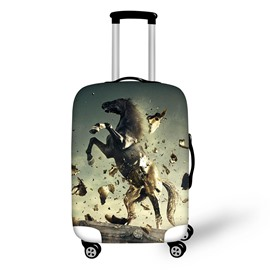 3D Printing Roar Horse Spandex Travel Dust proof Luggage Cover