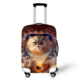 3D Printing Big Face Cat Spandex Travel Dust proof Luggage Cover