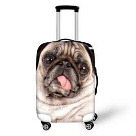 3D Animals Pattern SharPei Waterproof Anti-Scratch Travel Luggage Cover