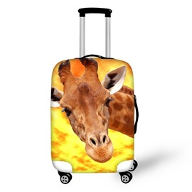 3D Animals Adorable GiraffePattern Waterproof Anti-Scratch Travel Luggage Cover