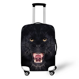 3D Animals Black Leopard Pattern Waterproof Anti-Scratch Travel Luggage Cover