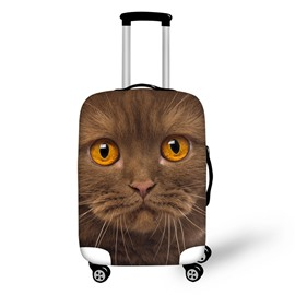 3D Animals Orange Cat Pattern Waterproof Anti-Scratch Travel Luggage Cover