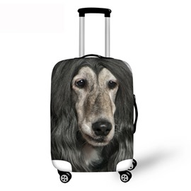 3D Pattern Dog with Long Hair Waterproof Suitcase Protector 19 20 21