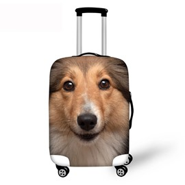 3D Sheltie Pattern Waterproof Suitcase Protector 19 20 21