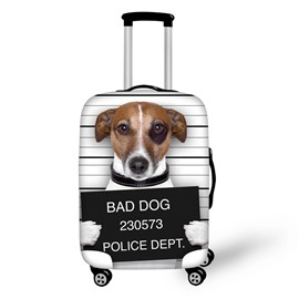 3D Printing Sad Dog Spandex Travel Dust proof Luggage Cover
