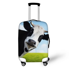 3D Milk Cow Pattern Waterproof Luggage Cover Protector 19 20 21