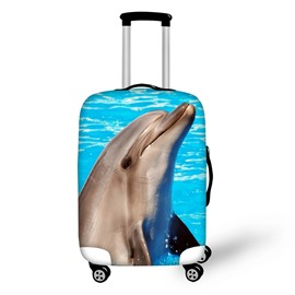 3D Dolphin Animals Pattern Waterproof Suitcase Protector for 19 20 21