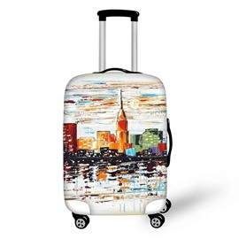 Oil Painting Street Travel Luggage Cover Suitcase Protector 19 20 21
