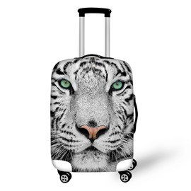 3D Tiger White Pattern Waterproof Suitcase Protector 19 20 21