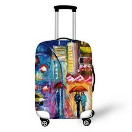 Couple Rainy WalkingTravel Luggage Cover Suitcase Protector 19 20 21