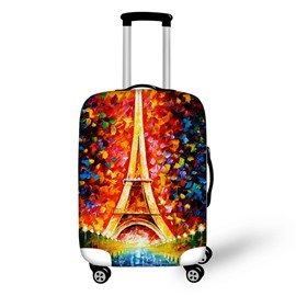 Eiffel Tower Colorful 3D Pattern Travel Luggage Cover 19 20 21