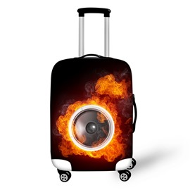 Fire Eyes Waterproof Cool Fashion 3D Print Travel Luggage Cover Suitcase Protector 19' 20' 21'