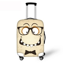 Big Glasses Funny Mouth 3D Pattern Waterproof Anti-Scratch Travel Luggage Cover Suitcase Protector 19 20 21