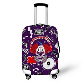 3D Clown Skull Combine Pattern Polyester High Quality Waterproof Luggage Cover