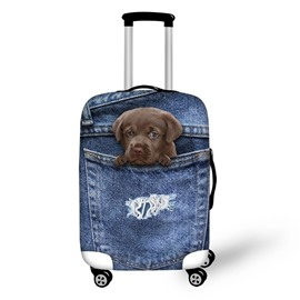 3D Jeans Style Dog Waterproof Suitcase Protector for 19 20 21
