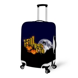 Halloween Word Moon Waterproof Suitcase Protector for 19 20 21