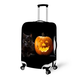 Halloween Pumpkin Cat Waterproof Suitcase Protector for 19 20 21