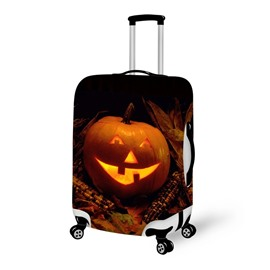 Pumpkin Light Smile Waterproof Suitcase Protector for 19 20 21