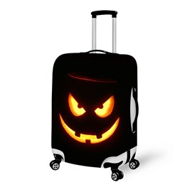 Horror Pumpkin Smile Waterproof Suitcase Protector for 19 20 21