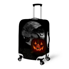 Bat Pumpkin Moon Waterproof Suitcase Protector for 19 20 21