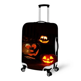 Pumpkin Funny Face Waterproof Suitcase Protector for 19 20 21