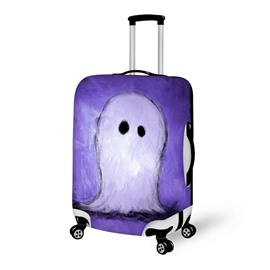 Halloween Purple Ghost Waterproof Suitcase Protector for 19 20 21