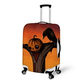 Scarecrow Pumpkin Halloween Waterproof Suitcase Protector for 19 20 21