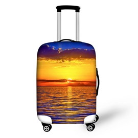 Sunset Sea Scenery Waterproof Suitcase Protector for 19 20 21