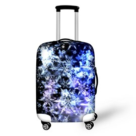 Christmas Winter Snowflake Pattern Waterproof Suitcase Protector for 19 20 21
