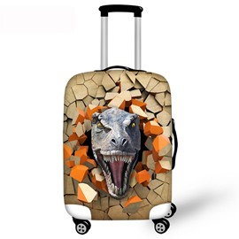 3D Dinosaur Roar Pattern Waterproof Suitcase Protector for 19 20 21