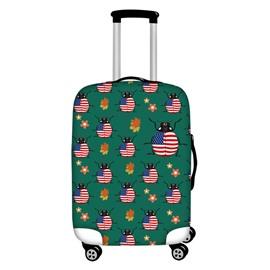 American Flag Pattern Ladybug Waterproof Suitcase Protector for 19 20 21