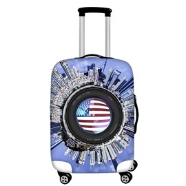 City View American Flag Camera Waterproof Suitcase Protector for 19 20 21