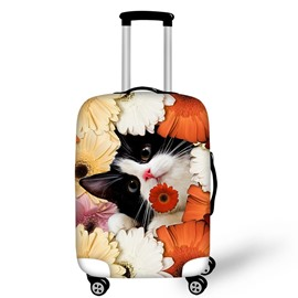 Adorable Naughty Cat Waterproof Suitcase Protector for 19 20 21