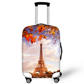Eiffel Tower Maple Leaves Waterproof Luggage Suitcase Protector for 19 20 21