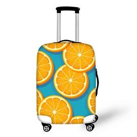 Orange Pattern Summer Waterproof Luggage Suitcase Protector for 19 20 21