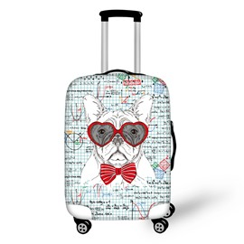 3D Printed Earnest Dog Studing Maths Luggage Protect Cover