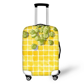 3D Fruits with Bright Yellow Squares Painted Luggage Protect Cover