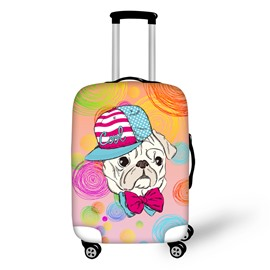 3D Cool Dog Printed Free Style Luggage Protect Cover