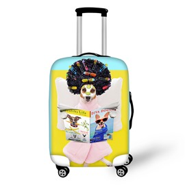 3D Leisure Dog Doing the Beauty Painted Luggage Protect Cover