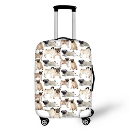 Charmingly Naive Dogs Pattern 3D Painted Luggage Protect Cover