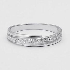 Popular Dull Polish Design 925 Sterling Silver Ring