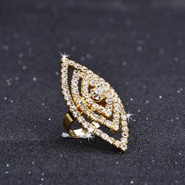Adult Female Alloy Diamante Technic Geometric European Style Ring