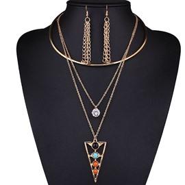 Charming Unique Design Alloy 3-Pieces Jewelry Sets