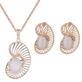 Pretty Diamante Rhinestone Inlaid Design Alloy Jewelry Sets